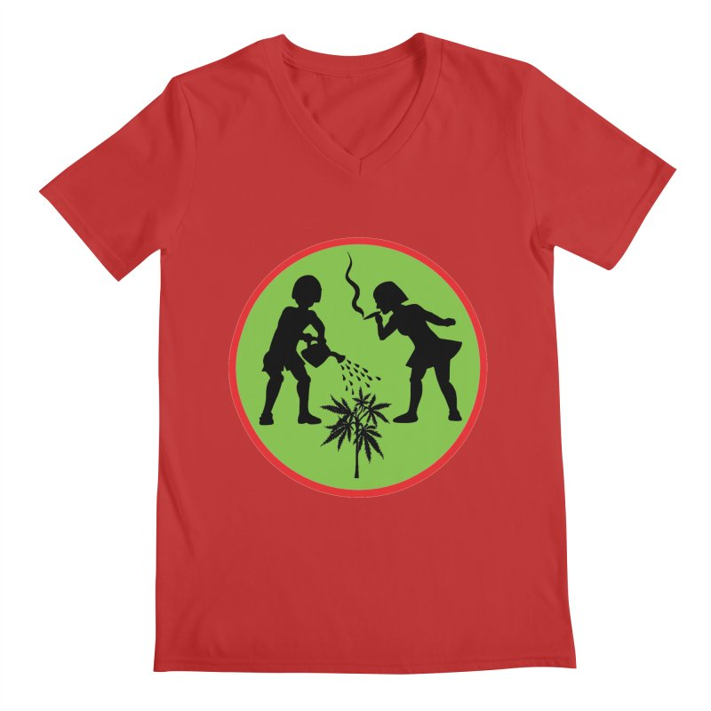 Mean Green Men's V-Neck by Mike Diana T-Shirts! Horrible Ugly Heads Limited E