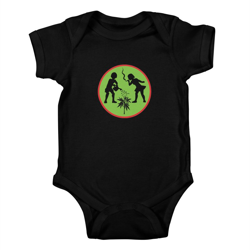 Mean Green Kids Baby Bodysuit by Mike Diana T-Shirts! Horrible Ugly Heads Limited E