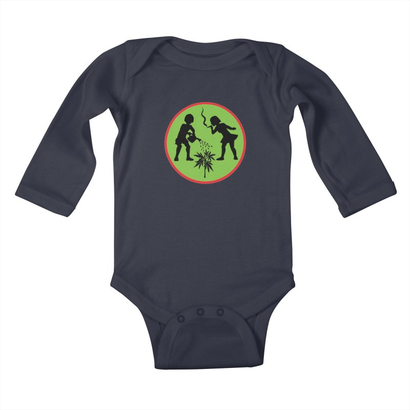 Mean Green Kids Baby Longsleeve Bodysuit by Mike Diana T-Shirts Mugs and More!