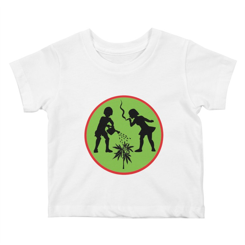 Mean Green Kids Baby T-Shirt by Mike Diana T-Shirts! Horrible Ugly Heads Limited E