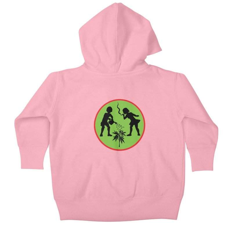 Mean Green Kids Baby Zip-Up Hoody by Mike Diana T-Shirts Mugs and More!