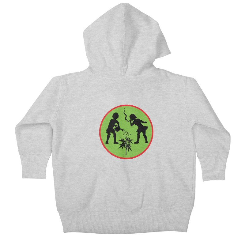 Mean Green Kids Baby Zip-Up Hoody by Mike Diana T-Shirts! Horrible Ugly Heads Limited E