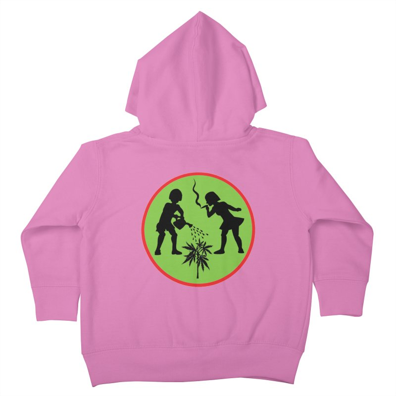 Mean Green Kids Toddler Zip-Up Hoody by Mike Diana T-Shirts! Horrible Ugly Heads Limited E