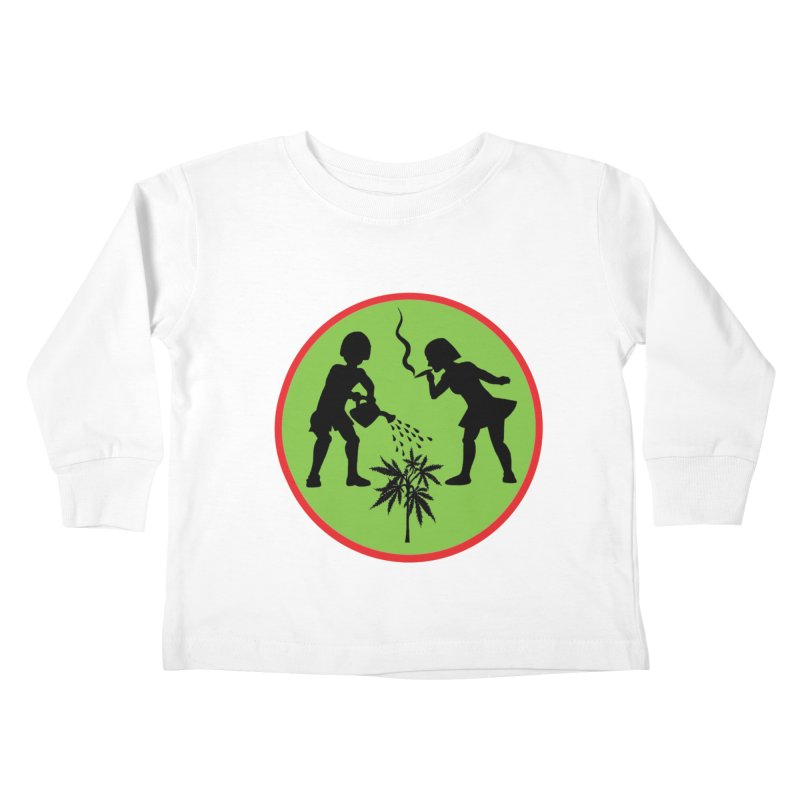 Mean Green Kids Toddler Longsleeve T-Shirt by Mike Diana T-Shirts! Horrible Ugly Heads Limited E