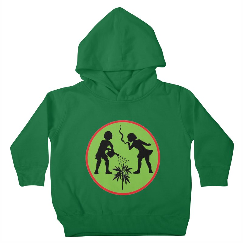 Mean Green Kids Toddler Pullover Hoody by Mike Diana T-Shirts! Horrible Ugly Heads Limited E