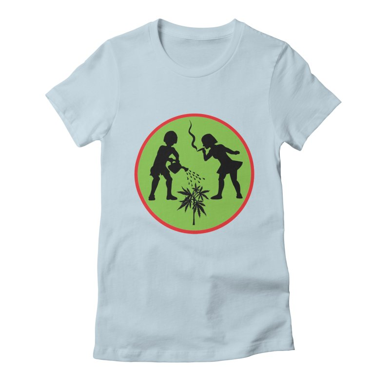 Mean Green Women's Fitted T-Shirt by Mike Diana T-Shirts! Horrible Ugly Heads Limited E