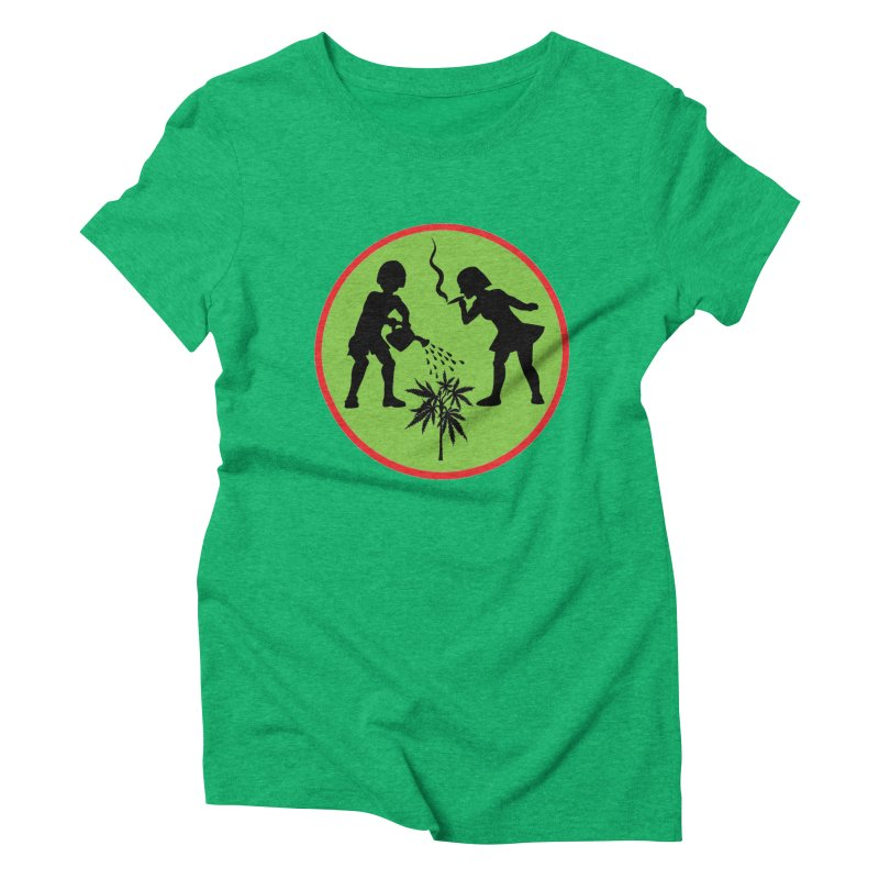 Mean Green Women's Triblend T-Shirt by Mike Diana T-Shirts! Horrible Ugly Heads Limited E