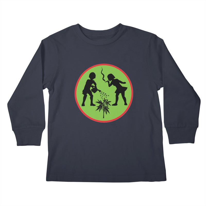 Mean Green Kids Longsleeve T-Shirt by Mike Diana T-Shirts Mugs and More!