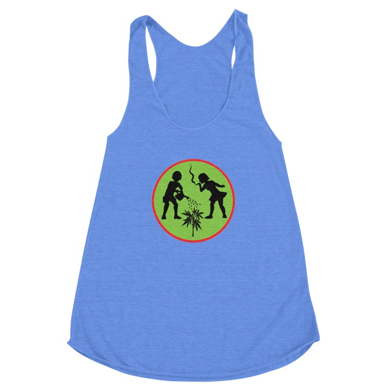 Mean Green Women's Racerback Triblend Tank by Mike Diana T-Shirts! Horrible Ugly Heads Limited E
