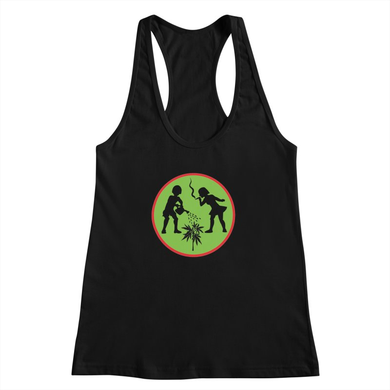 Mean Green Women's Racerback Tank by Mike Diana T-Shirts! Horrible Ugly Heads Limited E