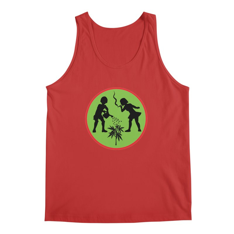 Mean Green Men's Tank by Mike Diana T-Shirts! Horrible Ugly Heads Limited E
