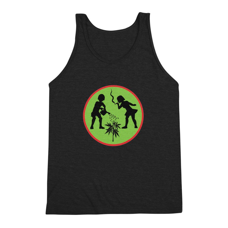 Mean Green Men's Triblend Tank by Mike Diana T-Shirts! Horrible Ugly Heads Limited E