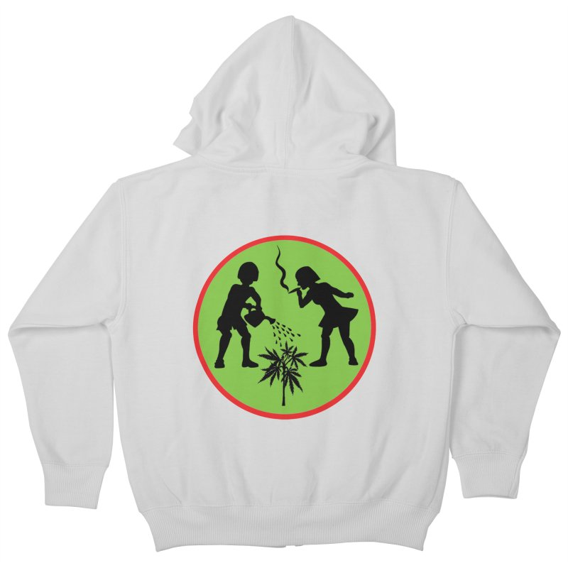 Mean Green Kids Zip-Up Hoody by Mike Diana T-Shirts! Horrible Ugly Heads Limited E