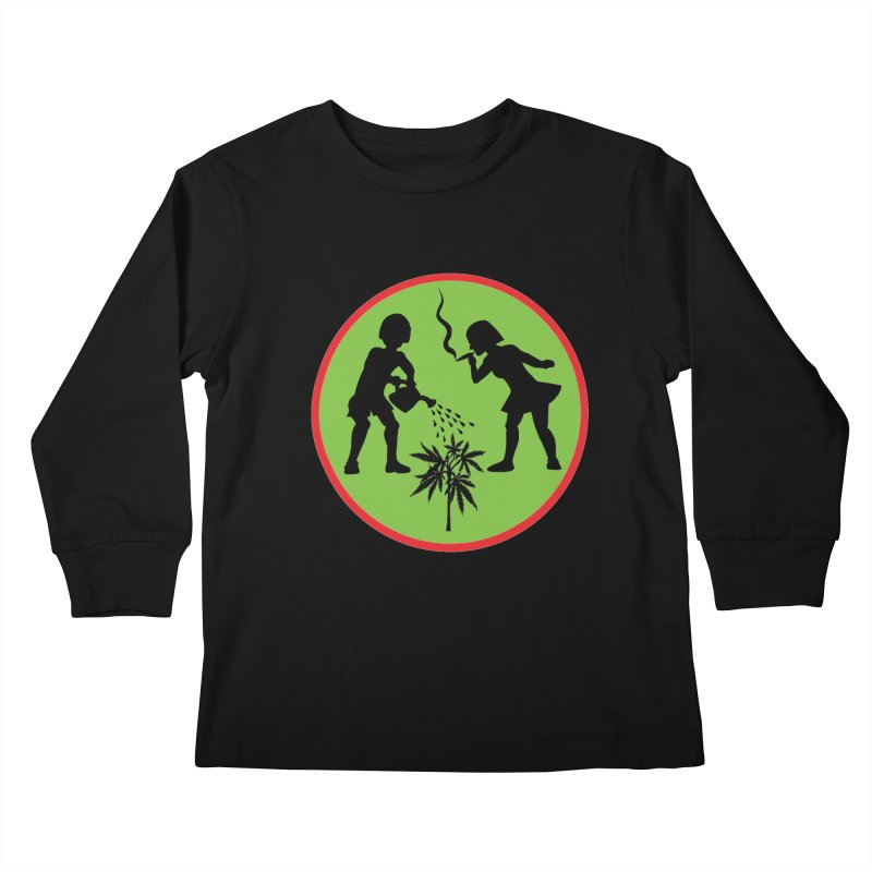 Mean Green Kids Longsleeve T-Shirt by Mike Diana T-Shirts! Horrible Ugly Heads Limited E