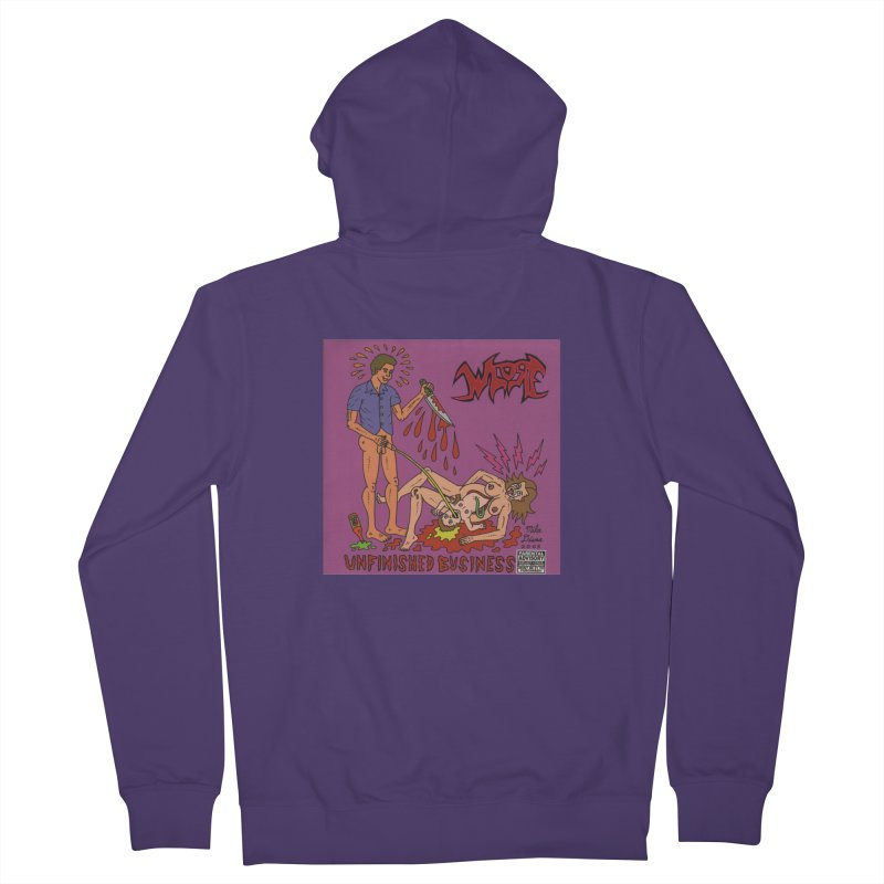 Whore Women's Zip-Up Hoody by Mike Diana T-Shirts! Horrible Ugly Heads Limited E