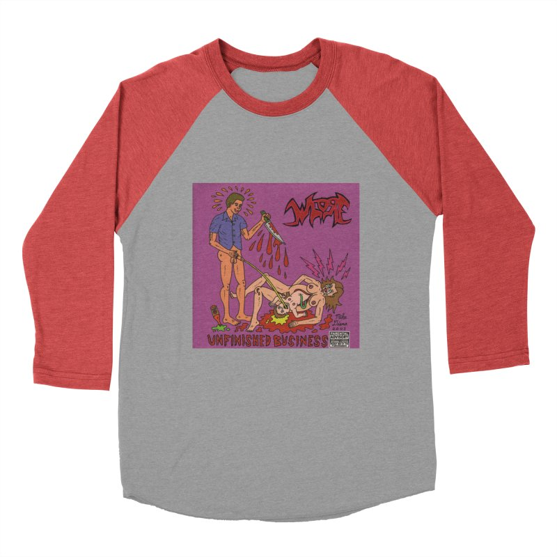 Whore Women's Baseball Triblend T-Shirt by Mike Diana T-Shirts! Horrible Ugly Heads Limited E