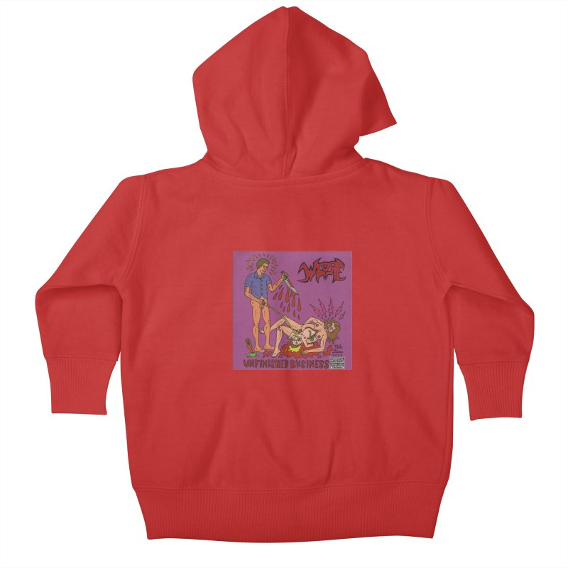 Whore Kids Baby Zip-Up Hoody by Mike Diana T-Shirts! Horrible Ugly Heads Limited E