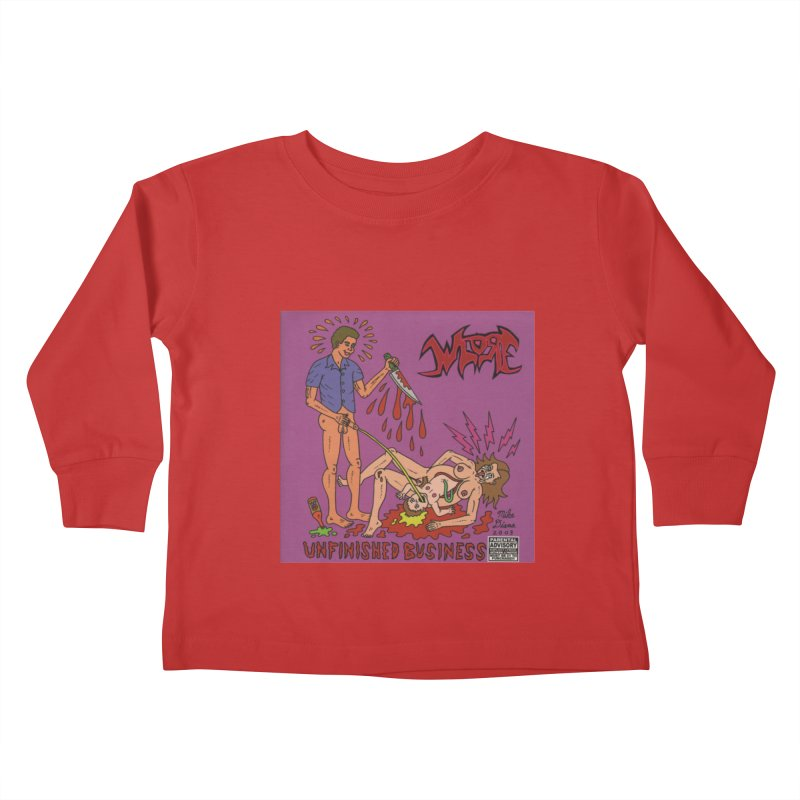 Whore Kids Toddler Longsleeve T-Shirt by Mike Diana T-Shirts! Horrible Ugly Heads Limited E