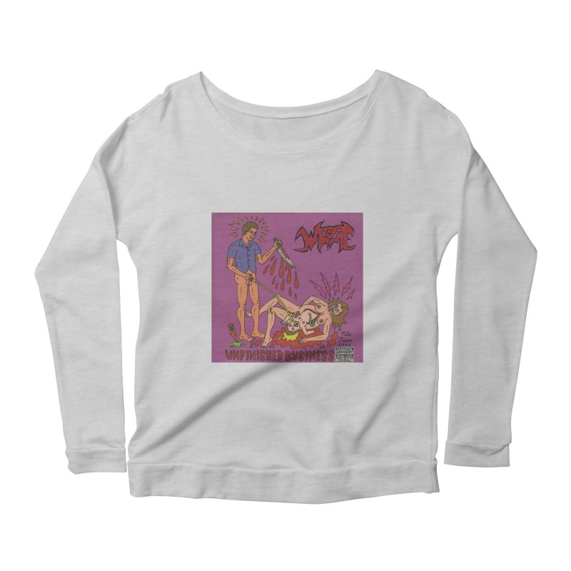 Whore Women's Longsleeve Scoopneck  by Mike Diana T-Shirts! Horrible Ugly Heads Limited E