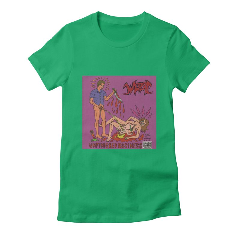 Whore Women's Fitted T-Shirt by Mike Diana T-Shirts! Horrible Ugly Heads Limited E