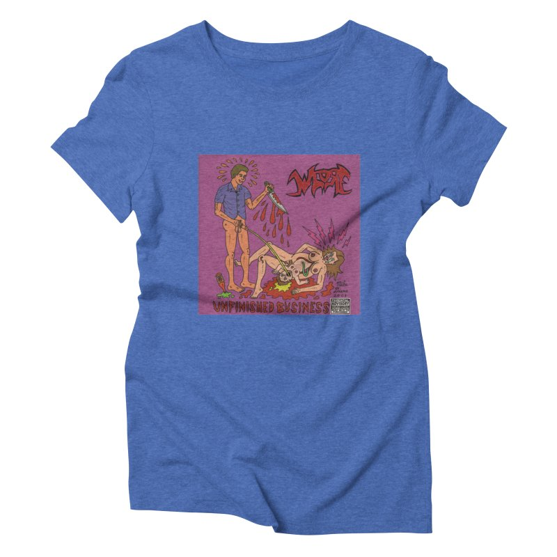 Whore Women's Triblend T-shirt by Mike Diana T-Shirts! Horrible Ugly Heads Limited E