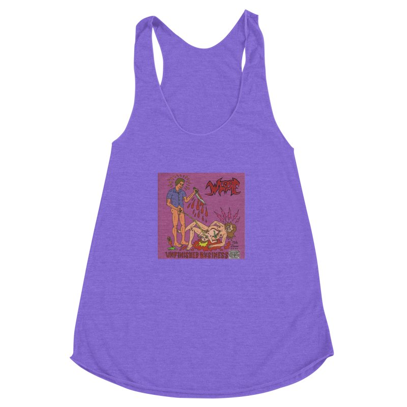 Whore Women's Racerback Triblend Tank by Mike Diana T-Shirts! Horrible Ugly Heads Limited E