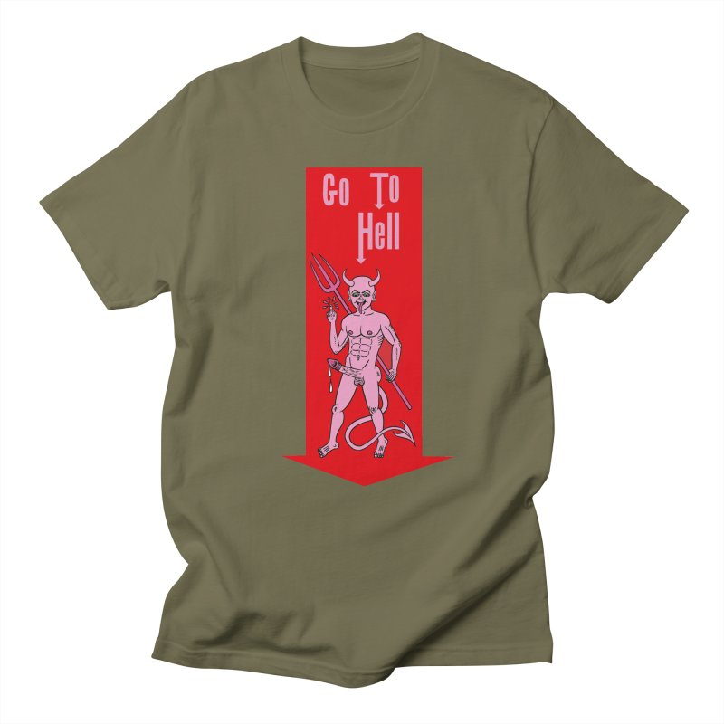 Go To Hell Men's T-Shirt by Mike Diana T-Shirts! Horrible Ugly Heads Limited E