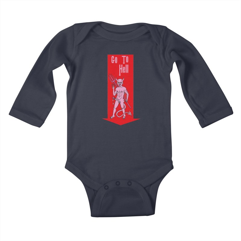 Go To Hell Kids Baby Longsleeve Bodysuit by Mike Diana T-Shirts! Horrible Ugly Heads Limited E