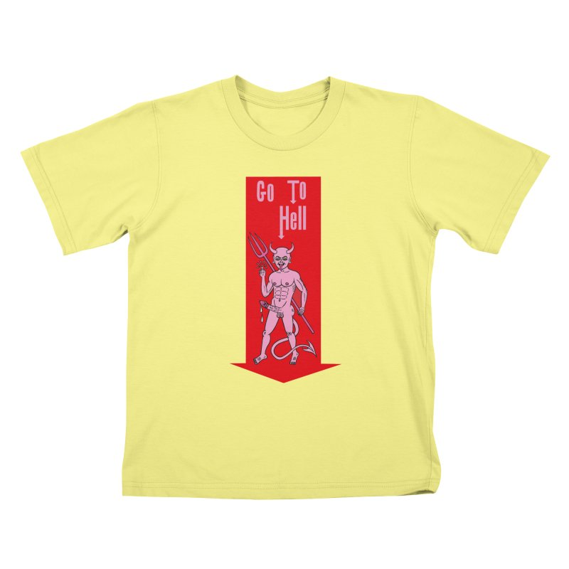 Go To Hell Kids T-shirt by Mike Diana T-Shirts! Horrible Ugly Heads Limited E