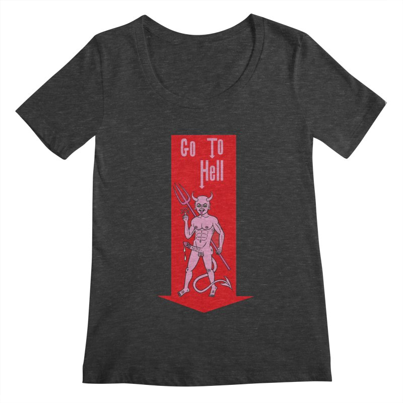 Go To Hell   by Mike Diana T-Shirts! Horrible Ugly Heads Limited E