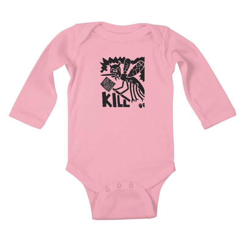 Kill! Mike Diana! Kids Baby Longsleeve Bodysuit by Mike Diana T-Shirts! Horrible Ugly Heads Limited E