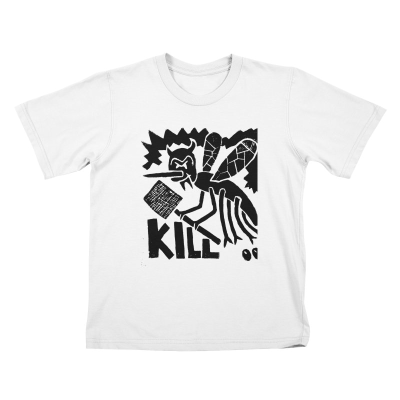 Kill! Mike Diana! Kids T-shirt by Mike Diana T-Shirts! Horrible Ugly Heads Limited E