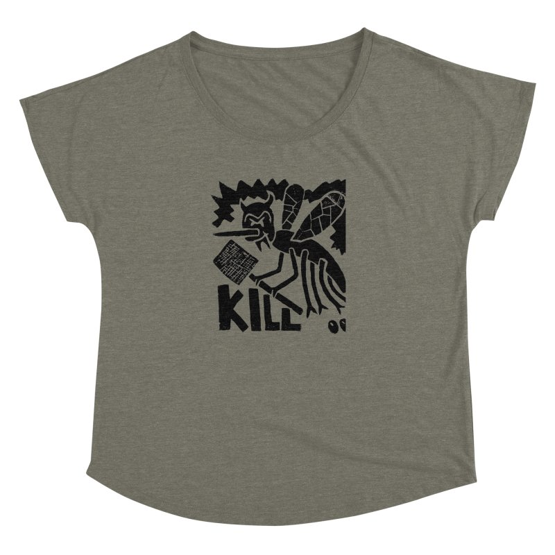 Kill! Mike Diana! Women's Dolman by Mike Diana T-Shirts! Horrible Ugly Heads Limited E