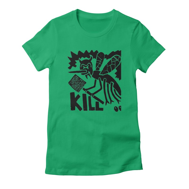 Kill! Mike Diana! Women's Fitted T-Shirt by Mike Diana T-Shirts! Horrible Ugly Heads Limited E