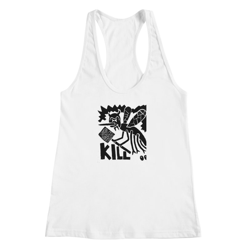 Kill! Mike Diana! Women's Racerback Tank by Mike Diana T-Shirts! Horrible Ugly Heads Limited E