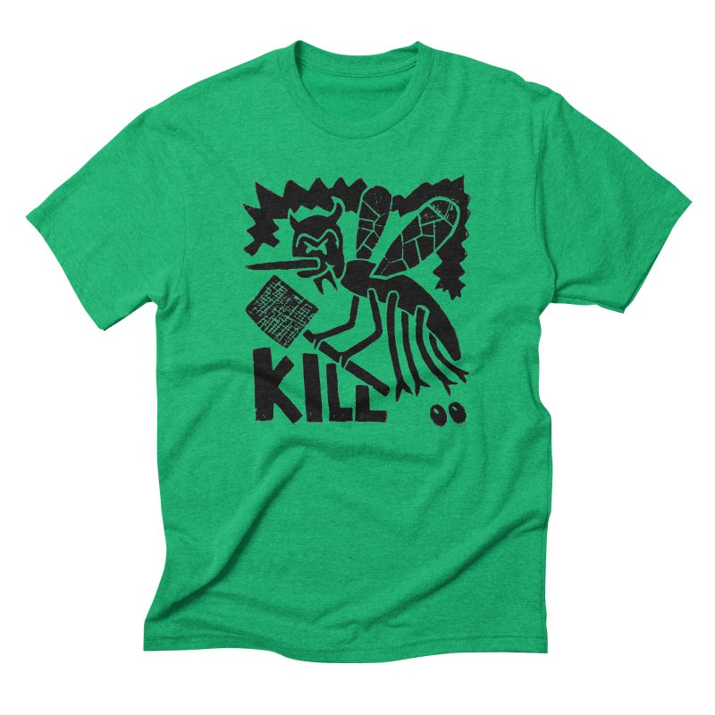 Kill! Mike Diana! Men's Triblend T-Shirt by Mike Diana T-Shirts! Horrible Ugly Heads Limited E