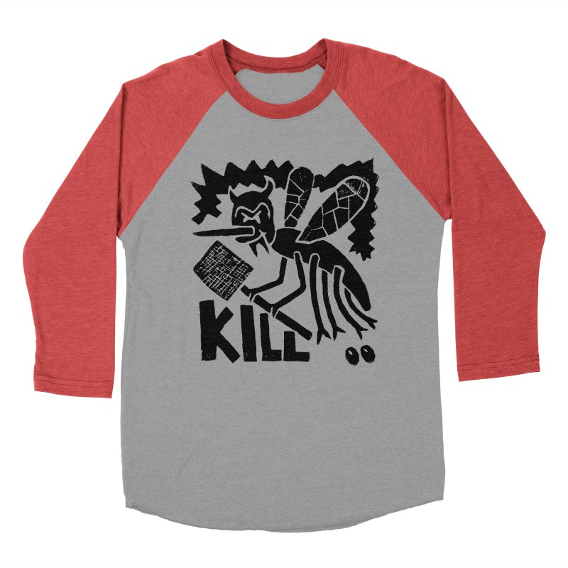 Kill! Mike Diana! Men's Baseball Triblend T-Shirt by Mike Diana T-Shirts! Horrible Ugly Heads Limited E