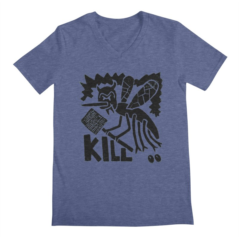 Kill! Mike Diana! Men's V-Neck by Mike Diana T-Shirts! Horrible Ugly Heads Limited E