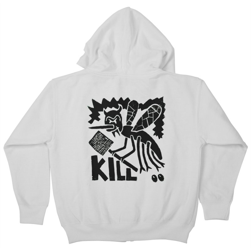 Kill! Mike Diana! Kids Zip-Up Hoody by Mike Diana T-Shirts! Horrible Ugly Heads Limited E