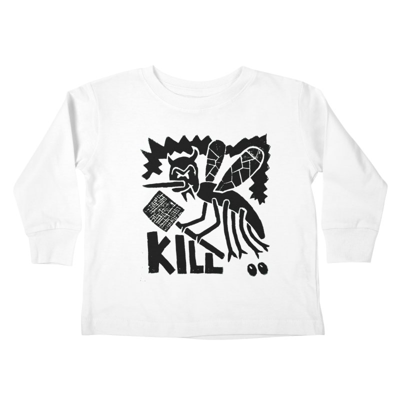 Kill! Mike Diana! Kids Toddler Longsleeve T-Shirt by Mike Diana T-Shirts! Horrible Ugly Heads Limited E