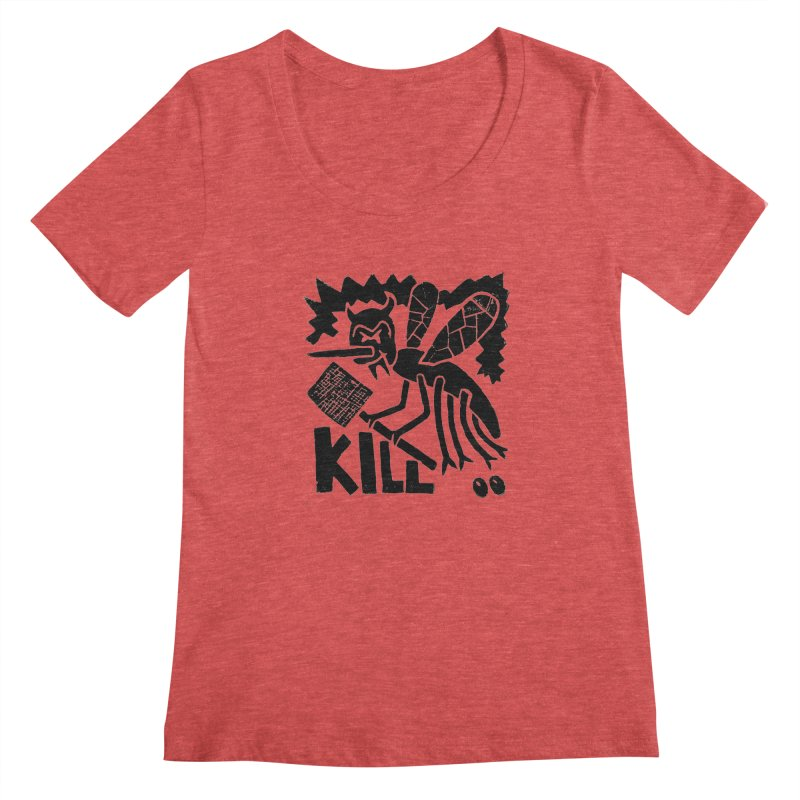 Kill! Mike Diana! Women's Scoopneck by Mike Diana T-Shirts! Horrible Ugly Heads Limited E