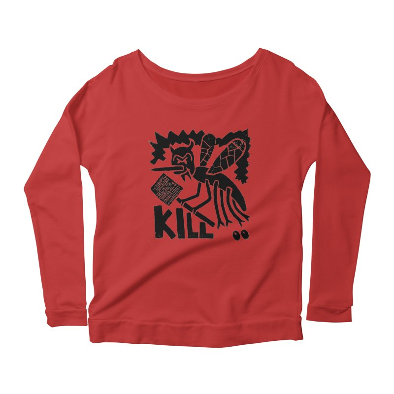 Kill! Mike Diana! Women's Longsleeve Scoopneck  by Mike Diana T-Shirts! Horrible Ugly Heads Limited E