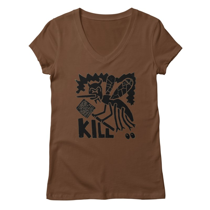 Kill! Mike Diana! Women's V-Neck by Mike Diana T-Shirts! Horrible Ugly Heads Limited E