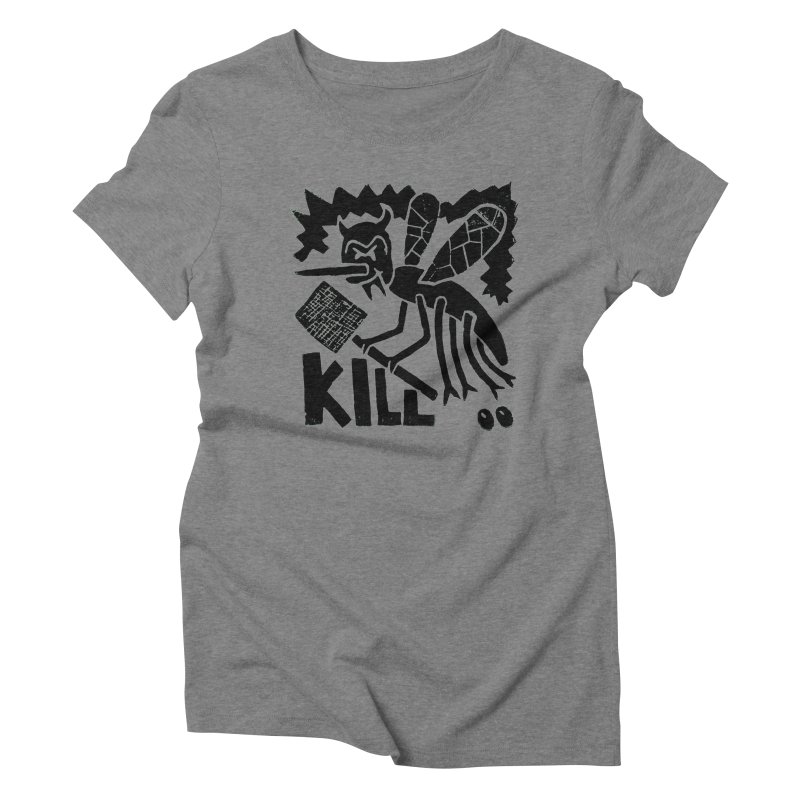 Kill! Mike Diana! Women's Triblend T-Shirt by Mike Diana T-Shirts! Horrible Ugly Heads Limited E