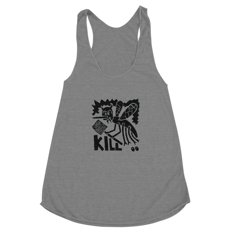 Kill! Mike Diana! Women's Racerback Triblend Tank by Mike Diana T-Shirts! Horrible Ugly Heads Limited E