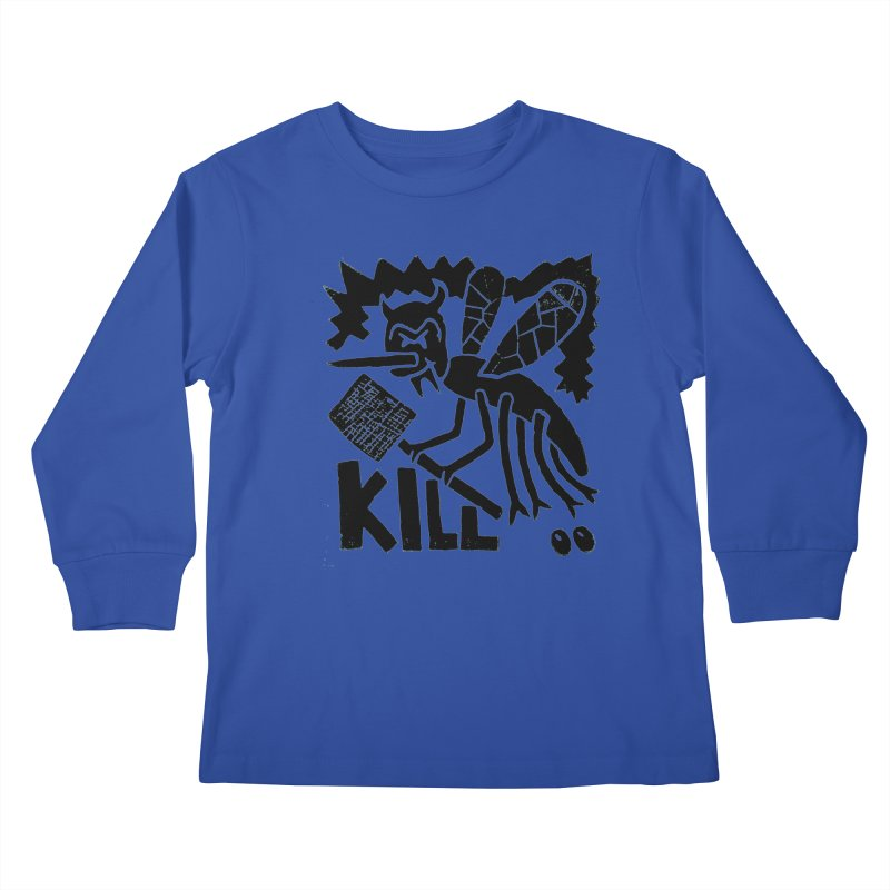 Kill! Mike Diana! Kids Longsleeve T-Shirt by Mike Diana T-Shirts! Horrible Ugly Heads Limited E