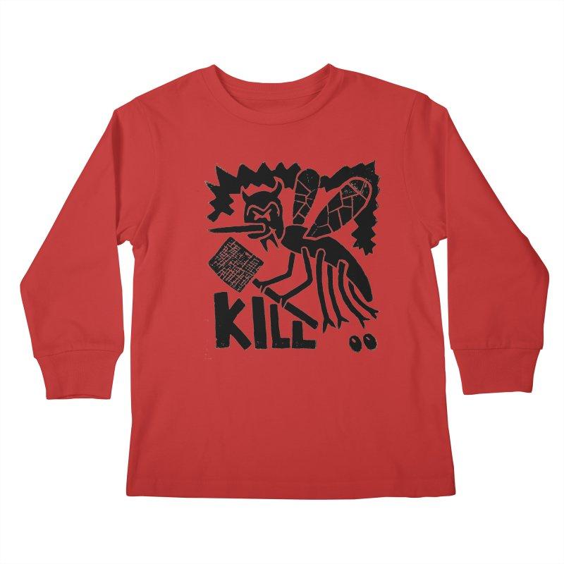 Kill! Mike Diana! Kids Longsleeve T-Shirt by Mike Diana T-Shirts! Horrible Ugly Heads Limited E
