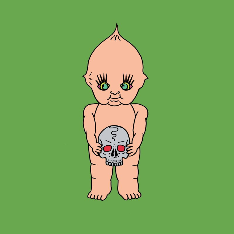 Kewpie With Skull Home Duvet by Mike Diana T-Shirts Mugs and More!