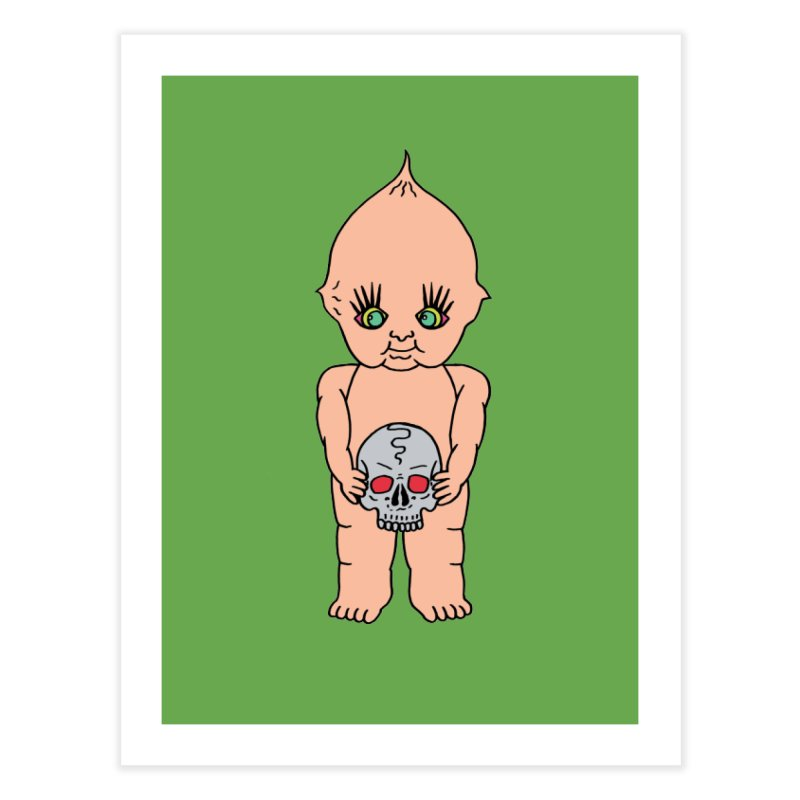 Kewpie With Skull Home Fine Art Print by Mike Diana T-Shirts Mugs and More!