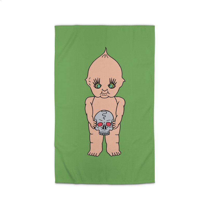 Kewpie With Skull Home Rug by Mike Diana T-Shirts Mugs and More!